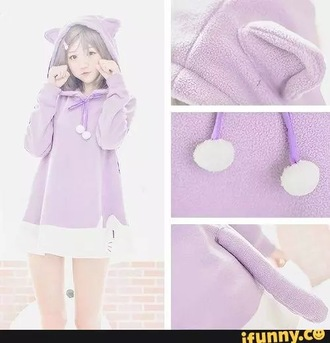 sweater cats cat sweater pastel purple pale purple meow kawaii pastel goth