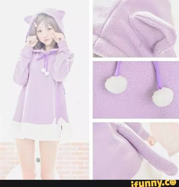 Kawaii Pastel Purple Sweater - Shop for Kawaii Pastel Purple ...