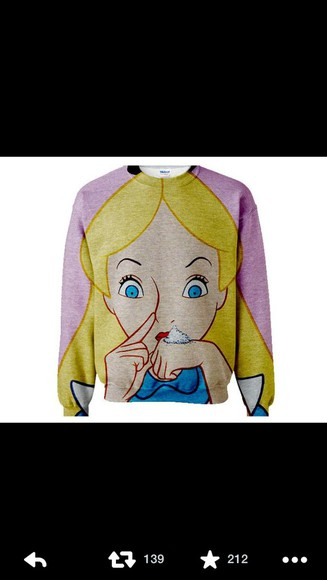 sweater alice in wonderland