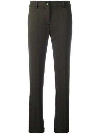 women spandex wool green pants