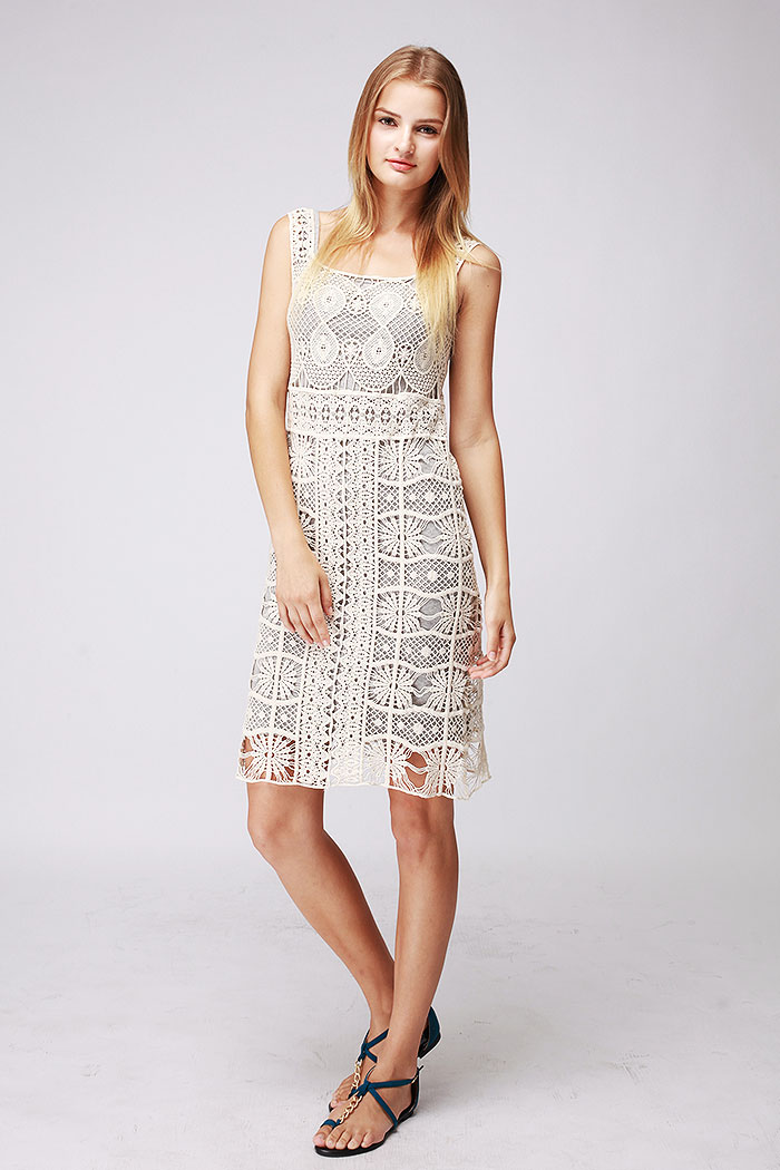 Layered seperate crochet dress