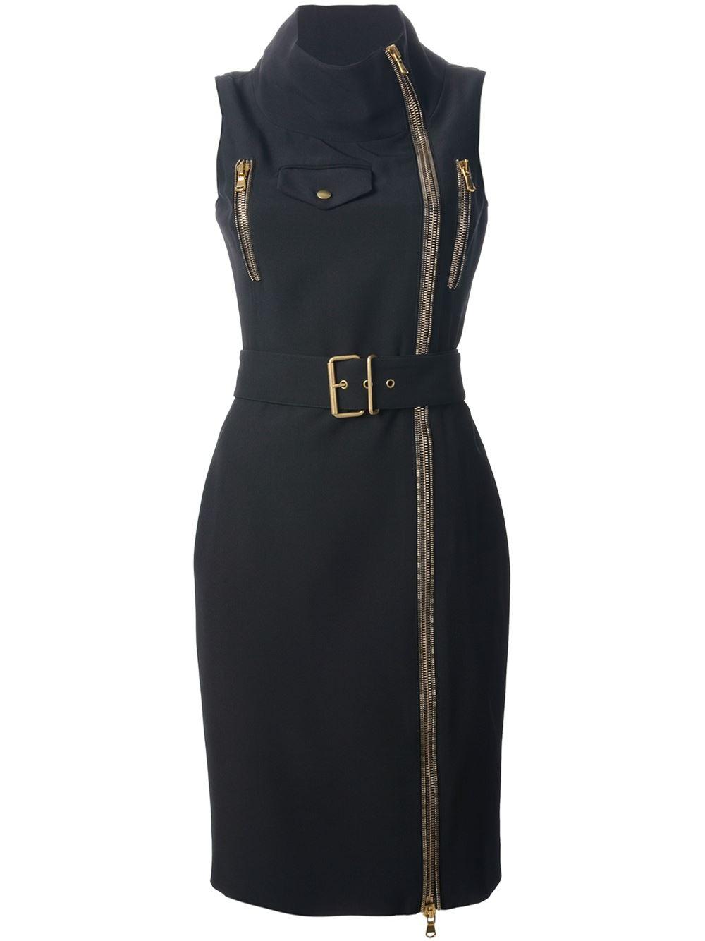 Alexander mcqueen zip front dress