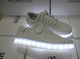 shorts light light up trainers trainers sneakers white shoes