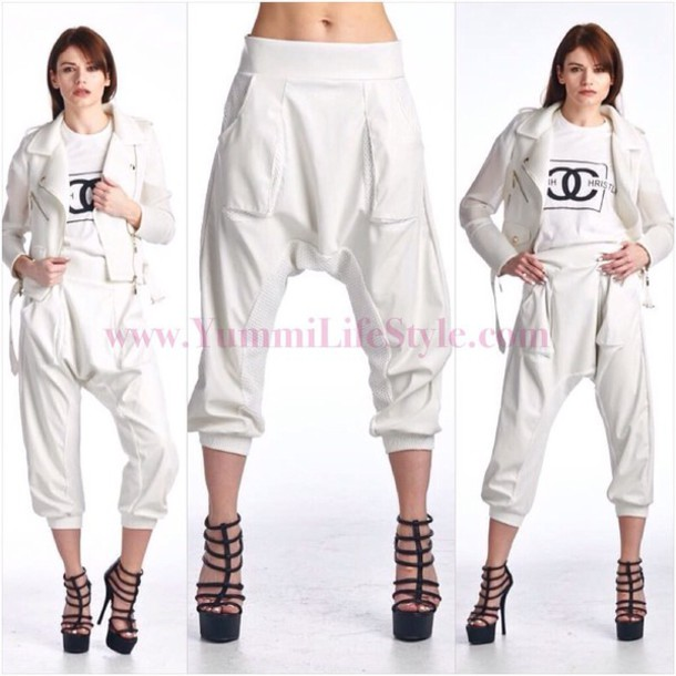 pants joggers leather joggers streetstyle