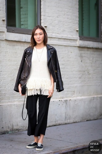 le fashion blogger jacket sweater top pants