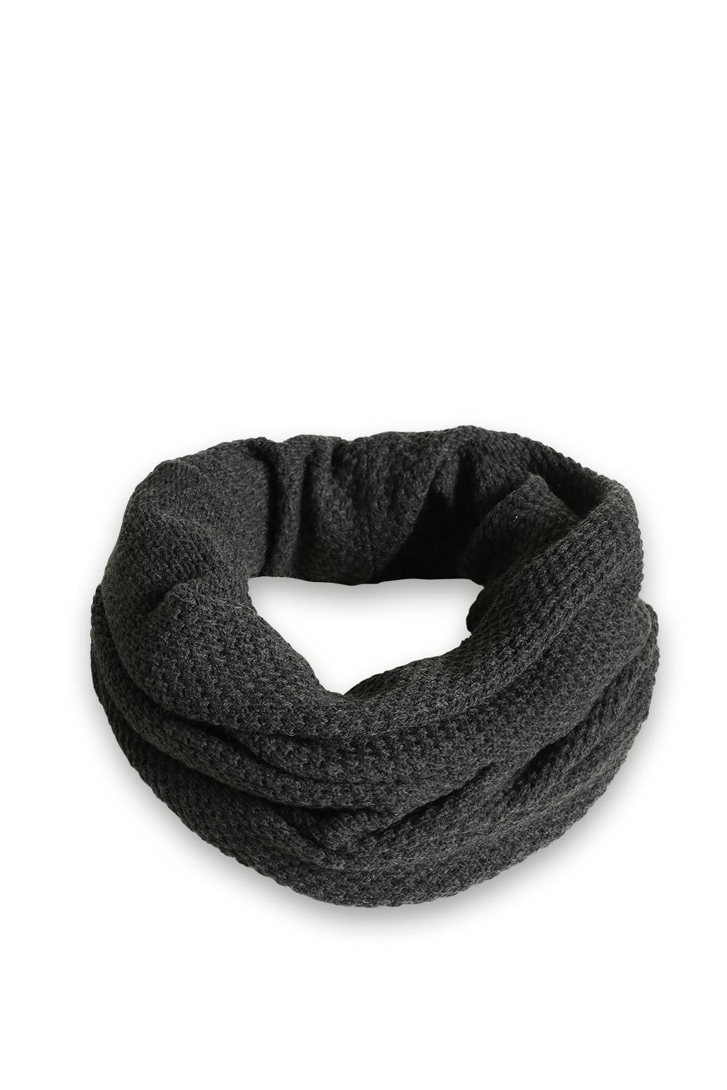Bufanda de cuello alto en punto suave