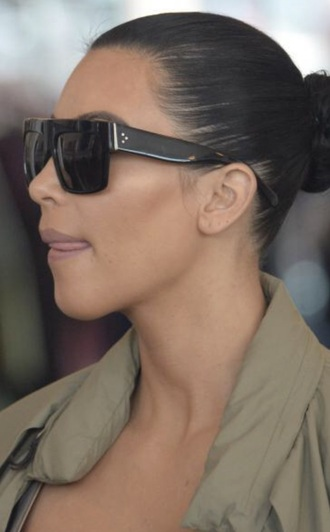 sunglasses sunnies flat top sunglasses accessories accessory kim kardashian kim kardashian style kardashians keeping up with the kardashians celebrity style celebstyle for less