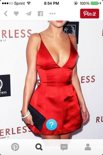 dress red dress dior