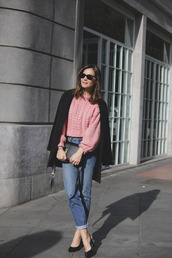 lady addict,blogger,sweater,jeans,shoes,bag,jacket,sunglasses
