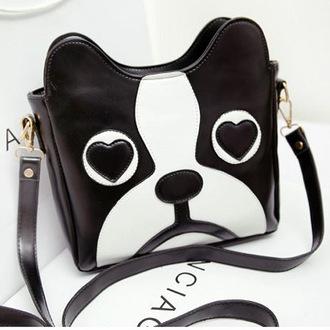 bag dog carton fashion handbag vintage black