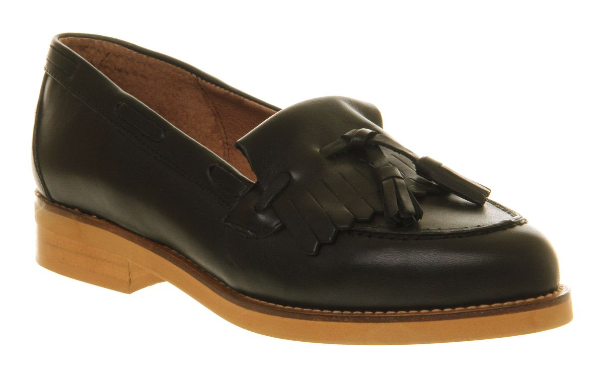 Office Extravaganza Loafer Shoes Black Leather House Of