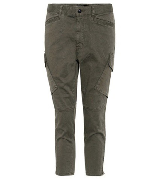 J Brand Margho mid-rise cargo jeans in green
