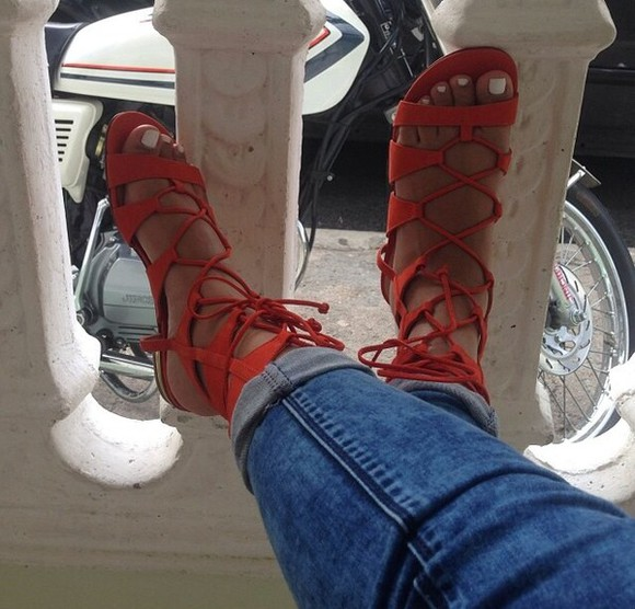 shoes orange shoes sandals summer outfits sandals, boheme, native, native style, boheme style