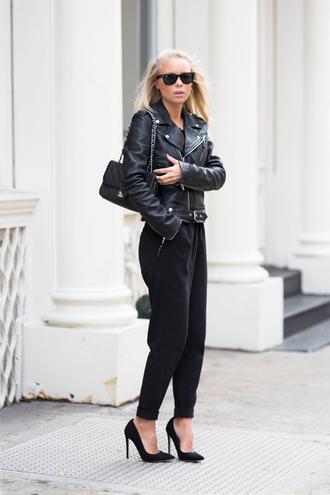 victoria tornegren blogger shoes pants jacket bag