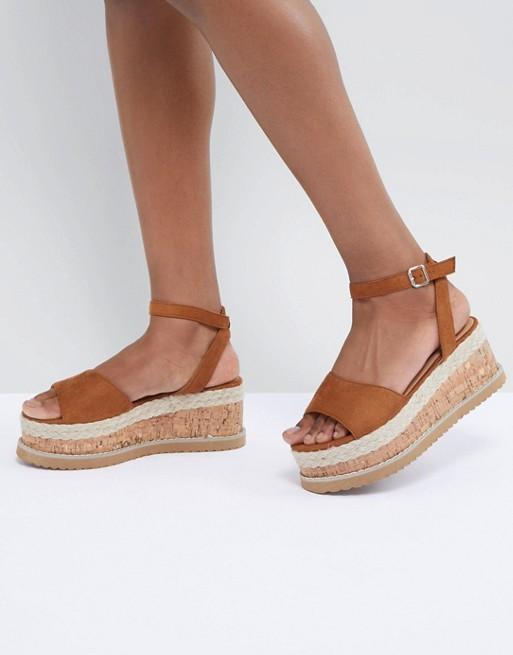 Boohoo Platform Espadrille Sandals at