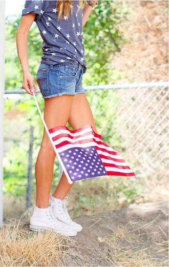 shirt patriotic america usa usa shirt stars t shirt casual summer