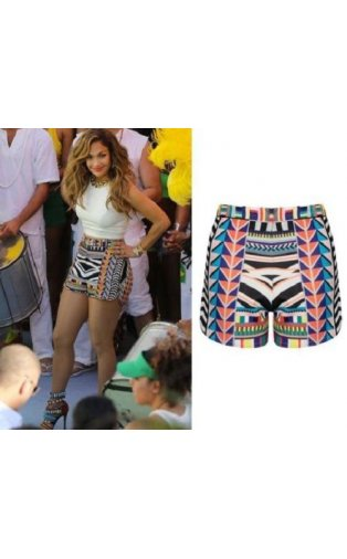 Celeb Inspired High Waisted Aztec Shorts -  from The Fashion Bible  UK