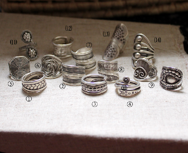 New Nepal Handmade Sterling Silver Rings Series B - Wishbop.com