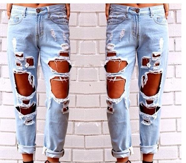 Cute hole fashion jeans