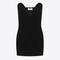 Black sweetheart mini dress in velours