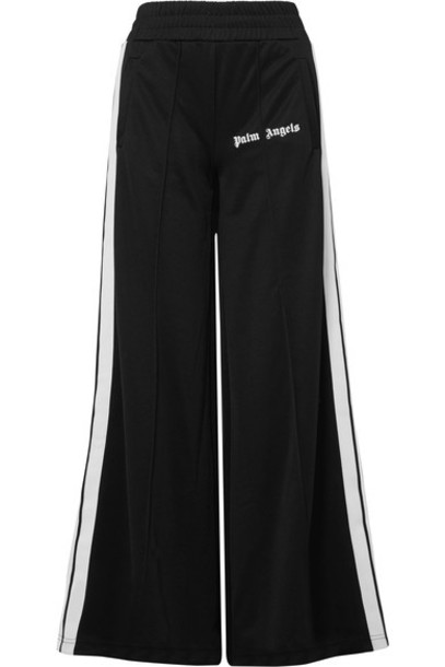 pants track pants black satin