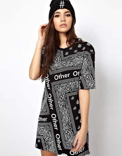 dress bandana print cute beautiful
