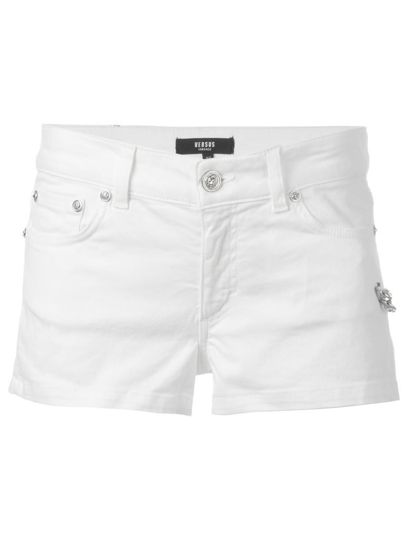 Versus safety pin embellished shorts, Women's, Size: 26, Black ...