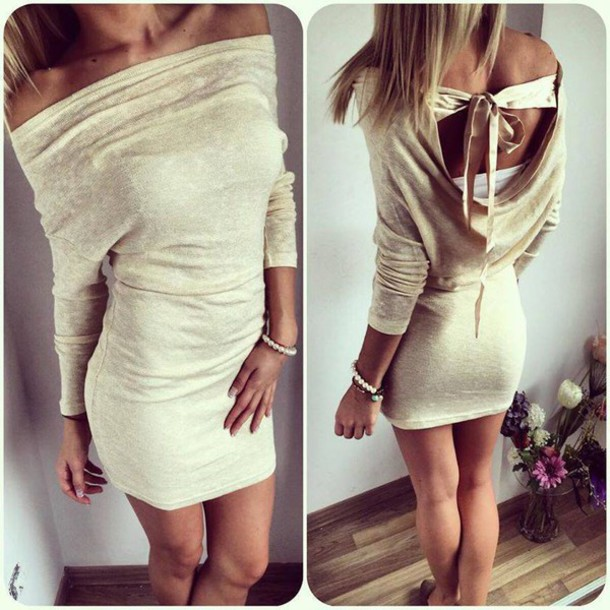 b69f9a3ce3b sweater backless sweater dress open back open back dresses winter outfits  winter sweater long sleeves long