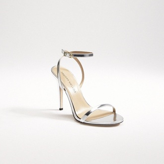 shoes silver ankle strap strappy heels cheap monday