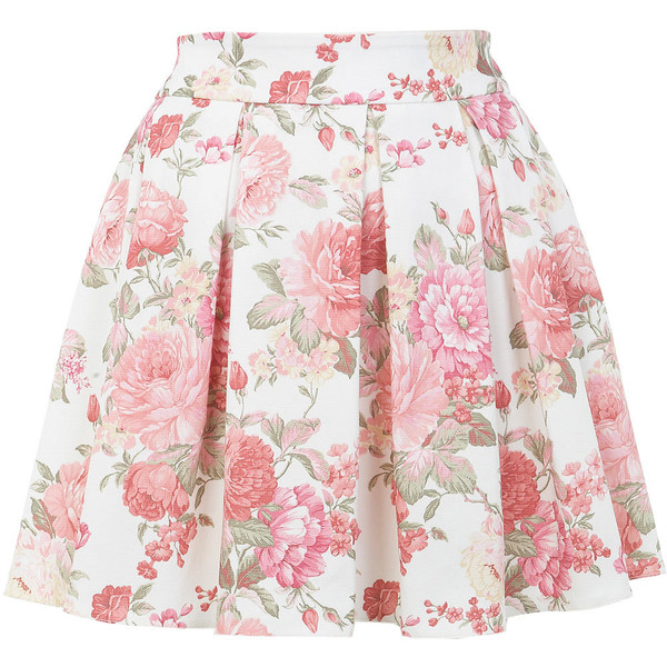 Miss Selfridge Floral Print Skater Skirt