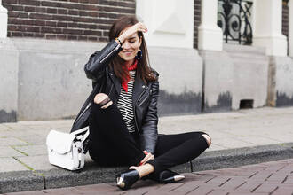 style scrapbook blogger top jeans bag shoes jacket jewels