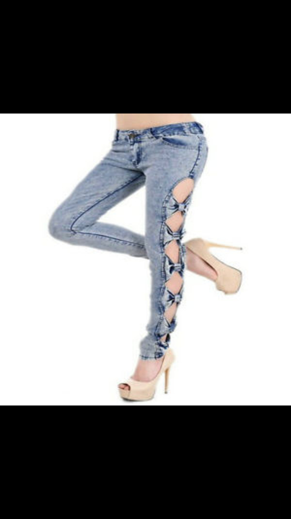 jeans bows