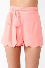 Nasty Gal Pink Pixie Scalloped Shorts
