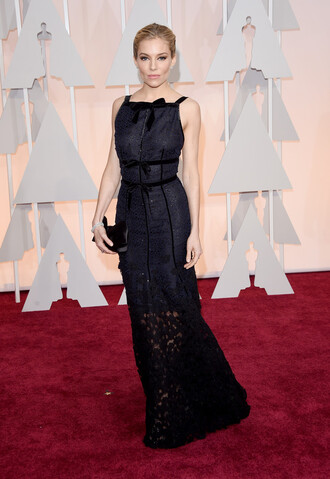 dress sienna miller gown red carpet dress oscars 2015