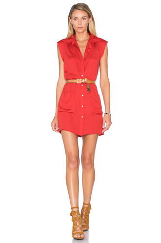 dress shirt dress sleeveless red