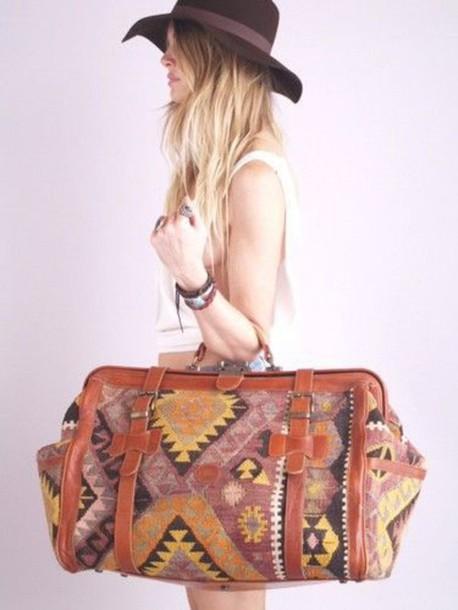 bag vintage bag travel bag travel boho bag summer accessories