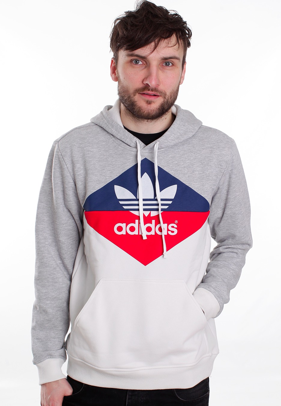 Adidas - Logo Medium Grey Heather - Hoodie - Streetwear Online Shop bad0803b8f59