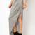 Grey Asymmetrical Split Pleated Skirt - Sheinside.com