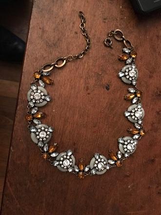 jewels orange silver jewelry grey jewelry necklace choker necklace chain jewls irregular classy classy wishlist style me elegant