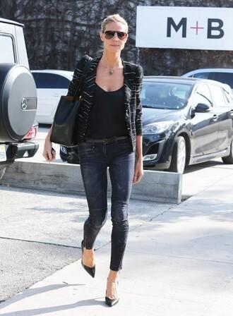 jacket heidi klum top jeans