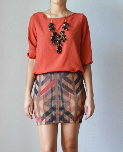 Trendy Clothing, Fashion Shoes, Women Accessories | Open Back Rust Blouse  | LoveShoppingMiami.com