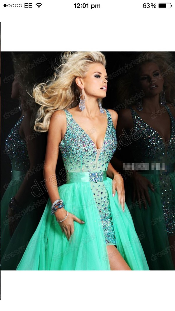 long prom crystal short blue sherri hill