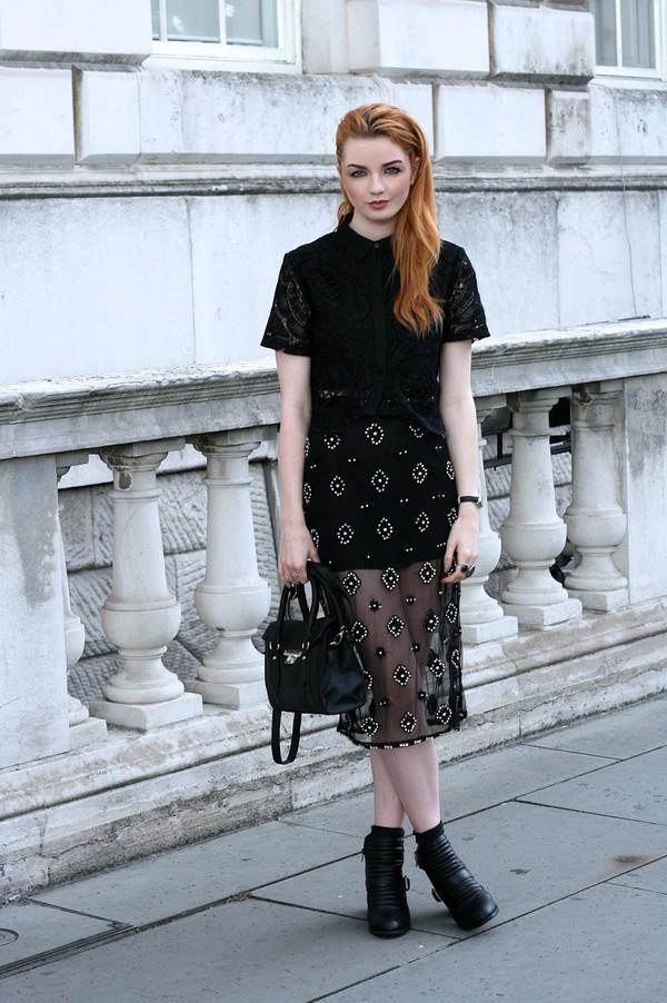 hannah louise fashion blogger top bag