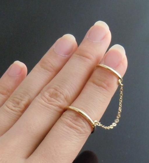 Gold GP Super Hot Chain MIDI Ring Big Ring SZ6 5 Small RINGSZ5 CHAIN2INCH | eBay