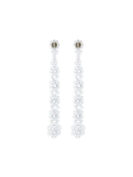 Simone Rocha long women earrings white jewels