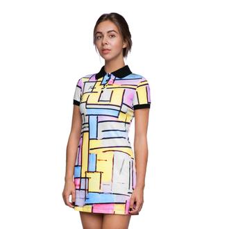 dress fusion clothing polo dress polo shirt colorful womenswear color blocks summer summer dress hipster cute cute dress yellow