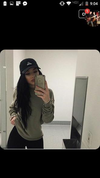 sweater khaki
