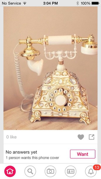 home decor home accessory telephone vintage gold vintage decor