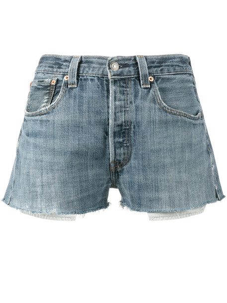 Re/Done shorts short shorts denim short women cotton blue