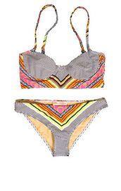 aztec,all seeing eye,bikini,striped bikini,swimwear